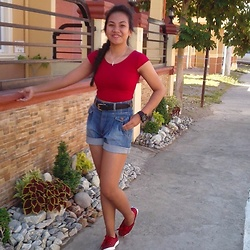 Ana Esguerra - Keds Polka Dots Red, H&M Denim High Waist, Forever 21 Red Crop Top, G Shock Black, Black Leather - Gotta Go