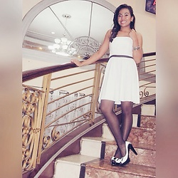 Ana Esguerra - Forever 21 White Dress, Black N White - Ebony and Ivory