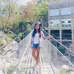 Ana Esguerra - Lacoste Checkerd Long Sleeves, H&M Short, Forever 21 Colorful - On the bridge