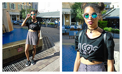 L'Albertina - H&M Skirt, Primark Shoes, H&M Glasses Of Sun, Aliexpress Necklace, Stradivarius Crop Top - Baby Girl
