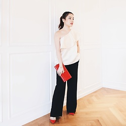 Pamela Wirjadinata - Posh The Label Top, Posh The Label Pants, Saint Laurent Cluth, Valentino Heels - Afternoon Tea