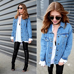 Sylwia Gocajna - Pull & Bear Jacket - Denim Jacket