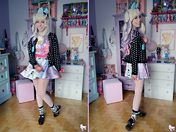 Luly Pastel Cubes - Petite Jolie Jelly, Forever 21 80s, Lockshop Wig, Kawaii Disc - If it makes you happy