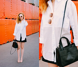 Kristina Magdalina - Sammydress Shirt, Stylewe Bag, Zaful Sunglasses - MIXING STYLES.
