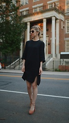 Maria L - And Other Stories Black Dress, Banana Republic Heels - DAY, AFTER DAY