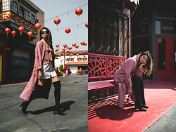 Mariel Cornel - Topshop Trench, Urban Outfitters Blush Cami, Prada Sunglasses - You Rock My World