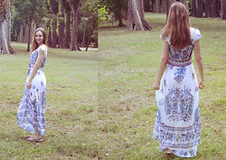 Marina Senina - No Brand Long White Dress Boho - Summer long dress