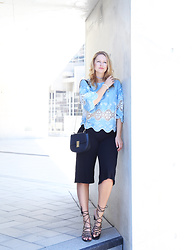 Tess Kay - Chic Wish Blouse, H&M Culotte, Mango Sandals - Love this blouse
