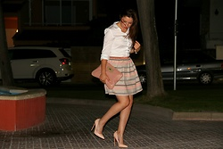 Ana Drosu - Christian Louboutin Stiletto, Delicada Greta Skirt, Misako Bag - Look last night