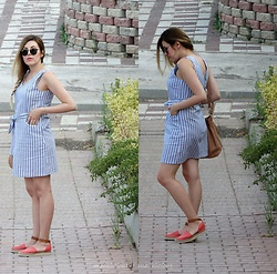 Melislicious Blog - Sheinside Dress, Sheinside Dress, Ray Ban Sunnies - Striped