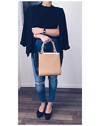 Meis Saad - Michael Kors Purse, Gucci Watch, Christian Louboutin High Heels, H&M Blazer, Lindex Jeans - Sophisticated