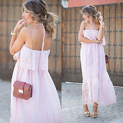 Helena Cueva - Chicwish Midi Dress - Pink Dress
