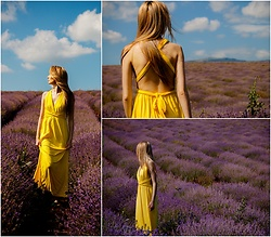Sofija Surdilovic - Milla Fashion Room Yellow Summer Dress - Fields of summer!