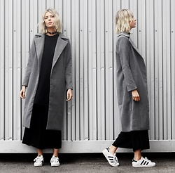 Ebba Zingmark - Chiquelle Coat, Von Hund Dress, Adidas Shoes, Monki Pants, Von Hund Choker - SWEPT AWAY