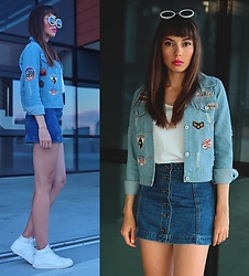 Jointy&Croissanty © -  - Denim jacket with patches