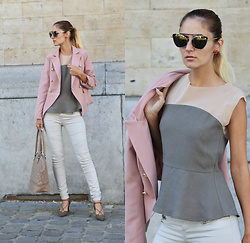 Ruxandra Ioana - Marie& Frisco Top, Zaful Earrings, Romwe Jacket - Money can't buy it.