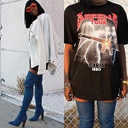 Fashion Doll - Nixon Watch, Zara Jean Jacket, Asos Denim Boots - Rihanna inspired Outfit