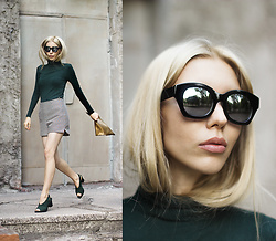 Margo Bryksina - Top, Zerouv Sunglasses - Nocked Down