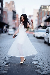 Kimberly Kong - Morning Lavender Little White Dress - Morning Lavender Magic