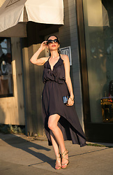 Lisa Valerie Morgan - Dra Dress, House Of Harlow 1960 Earrings, Jimmy Choo Sandals - Date Night Look with Revolve Clothing