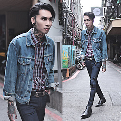 IVAN Chang - Asos Jeans, Asos Boots, Tastemaker 達新美 Shirt, Levi's® Vintage Jacket - 080916 TODAY STYLE