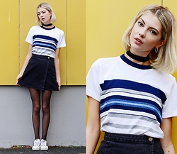Ebba Zingmark - 2hand Top, Asos Skirt, Suzywan Delux Choker, Adidas Shoes - I STILL FEEL IT