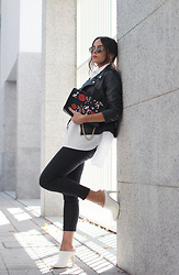 Bárbara Marques - Primark Jacket, Zara Shirt, Stradivarius Pants, Suiteblanco Mules, Zara Bag, H&M Sunglasses - Multitasking