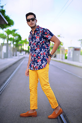 Spoke STYLE - Tijneyewear, Zara Loafers, Zara Yellow Pants - Add some colors for the summer
