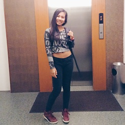 Ana Esguerra - Puma Maroon Highcut, Zara Black Skinny Jeans, H&M Long Sleeves Crop - Lets go
