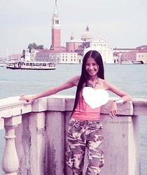 Hanna From HOLLAND - Handmade Silver Necklace, Silverqueen Handmade Silver Charm, Hollister Soldier Pants - Heart for Venice <3