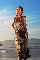 Anne - Zara Gold Maxi, Svelte Metals Gold Arm Cuffs, Chanel Black Cross Body - Alchemy