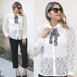 Paulina Mo - Lace Top - Feminine with a Menswear Touch