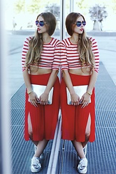 Marie Mywardrobechaos -  - Red & White Stripes.