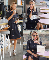 Susanne Bender - Eshakti Dress, Unisa Sneakers, Ecco Bag, Ray Ban Rayban Sunglasses - Design your own dress!!