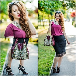 Drew - House Top, H&M Skirt - When vintage meets modern