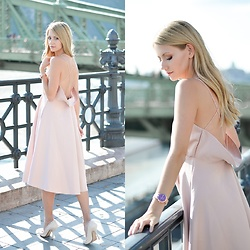 Vivienn Nagy - Chicwish Dress, Thomas Sabo Watch - Romantic Afternoon - www.fiftypairsofshoes.com