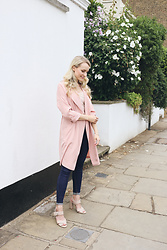 Marika - River Island Trench Jacket, More Details - Dusty Pink Trench Jacket
