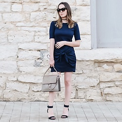 Morgan Schadegg - Michael Stars Faux Wrap Dress, Chloé Faye Bag, Alexander Wang Heels - Knotted dress
