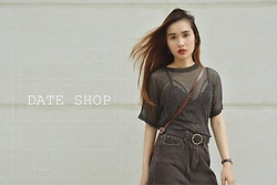 Ang Nguyen - Date Shop Top, Date Shop Baggy Jeans - Black is the best choice