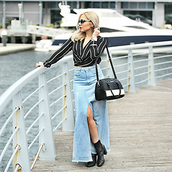 Scarlett Vargas - Zaful Maxi Skirt, Sheike Blouse, Zulch Bag - Arvo by the Pier