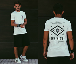 Jose Manuel Hernández - Asos Infinite T Shirt, Asos Pants, Superstar Adidas - INFINITE