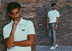 Jose Manuel Hernández - Tommy Hilfiger Polo Shirt, Zara Chinese Pants, Tommy Hilfiger Shoes - FORMAL GREY