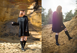 Lisa S - H&M Neklace, Mango Dress, Even&Odd Plateau Boots - I'm a witch.