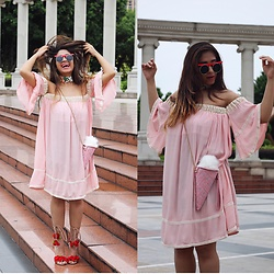 Surbhi Suri - S Dress, Sammydressfashion Bag, Sammydressfashion Heels, Sunglasses, Choker - We all scream for Icecream