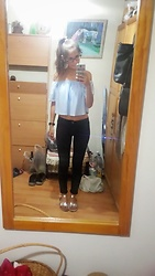 Andrea Ávila - Bershka Off Shoulder Top, Bershka High Waisted Pants - Summer come back!
