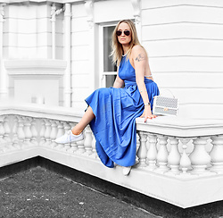 Mad Cat Fashion P. - Sheinside Maxi Dress - Blue