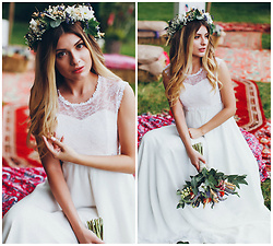 Anna Gurchenkova -  - Chic Bohemian Wedding Dress