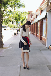 Carolina Pinglo - Kate Spade Purse, Brandy Melville Skirt - Polka dot on Polka dot
