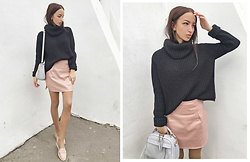 Christina Dafina - Skirt, Bag - Nude&black