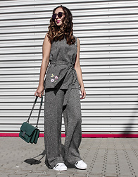 Guess What - Marks & Spencer Pants, Marks & Spencer Top, Adidas Shoes, Parfois Bag - GREY  WITH COLORS
